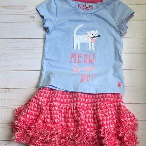 Joules top and skirt set